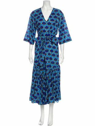 Rhode Resort Printed Long Dress Blue Printed Long Dress