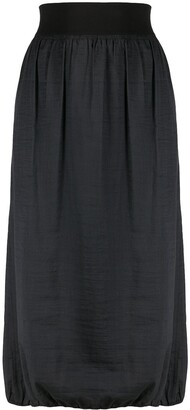 Yohji Yamamoto Pre Owned 1990s gathered midi skirt