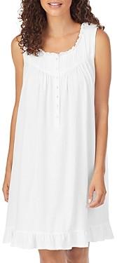 Eileen West Cotton Ruffle Trim Nursing Nightgown
