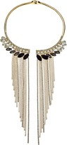 GUESS Stone Collar with Stones and Metal Fringe Necklace