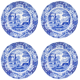 Spode Blue Italian Dinner Plates (Set of 4)