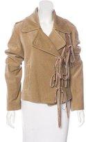 Ann Demeulemeester Velvet Moto Jacket