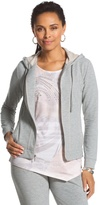 Chico's Coverstitch Hooded Jacket