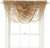 Royal Velvet Harmon Rod-Pocket Sheer Waterfall Valance