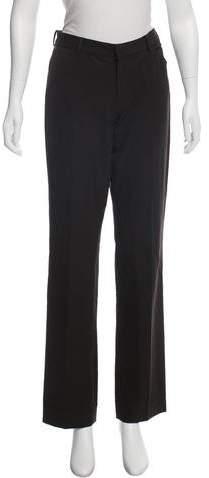 Ralph Lauren Black Label Wool Mid-Rise Straight-Leg Pants