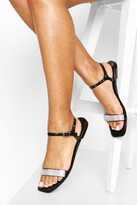 Thumbnail for your product : boohoo Diamante Strap Jelly Sandals