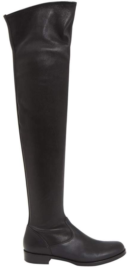 Gianvito Rossi Leather riding boots