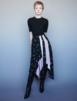 Maje Mixed print trompe-l'oeil dress