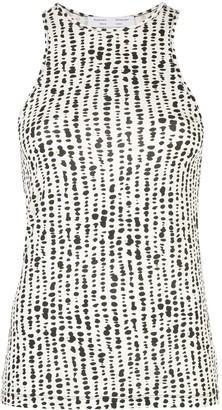 Proenza Schouler White Label Dot-Print Knitted Tank Top