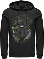 Disney Men's Sleeping Beauty Maleficent Manga Art Hoodie