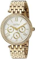 Bulova Women's Quartz Stainless Steel Casual Watch, Color:Gold-Toned (Model: 44N109)