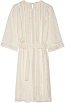 ADAM by Adam Lippes Embroidered crepe dress