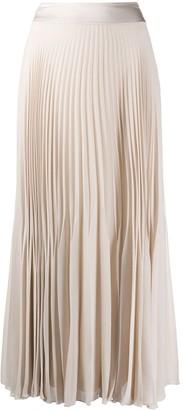 Peserico Pleated Chiffon Midi Skirt