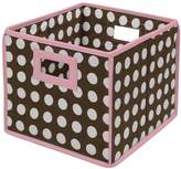 Badger Basket Polka-Dot Folding Storage Cube