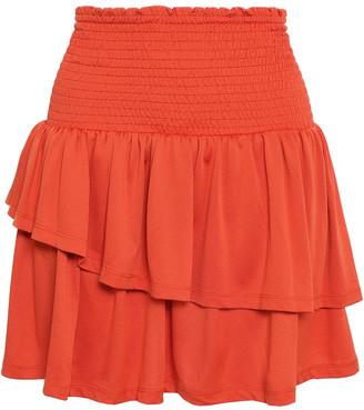 Baum und Pferdgarten Shirred Tiered Jersey Mini Skirt