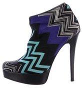 Missoni Chevron Knit Ankle Boots