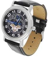 Geneva Platinum Men's Leather Band Watch - 9.5""