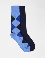 Polo Ralph Lauren 2-Pack Argyle & Solid Socks