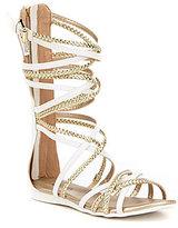 MICHAEL Michael Kors Girls' Demi Kayla Braided Metallic Gladiator Sandals