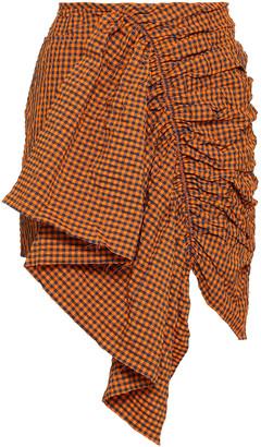 Marques Almeida Ruffled Gingham Seersucker Mini Skirt