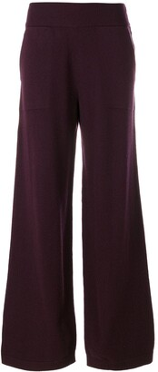 Barrie Wide Leg Knitted Trousers