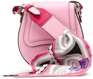 Emilio Pucci Scarf Handle Shoulder Bag