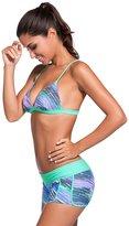 EnlaChic Women's Trim Triangular Bikini and Boardshort Swimsuit