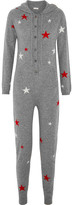 Chinti and Parker Hooded Star-intarsia Cashmere Jumpsuit - Gray