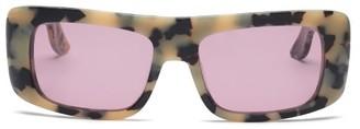 Marni Rectangle Tortoiseshell-effect Acetate Sunglasses - Grey