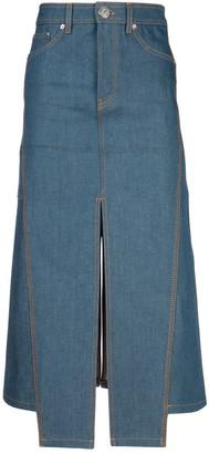 Lanvin Denim Midi Skirt