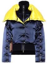 Versace Layered puffer coat