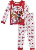Nickelodeon Paw Patrol Little Girls Toddler Christmas Cotton Pajama Set