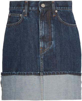 Helmut Lang Dark Wash Denim Mini Skirt