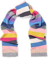 Allude Metallic Striped Cashmere Scarf - Pink