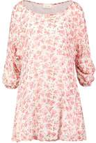 American Vintage PEONYLAND Day dress pink