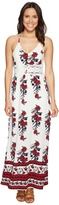 Romeo & Juliet Couture Open Back Floral Print Maxi Dress