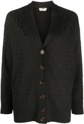 Fendi FF motif knitted cardigan
