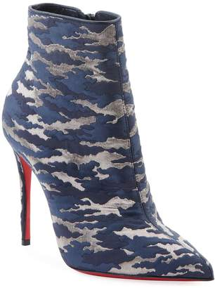 Christian Louboutin So Kate Camo Red Sole Booties