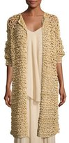 Ralph Lauren Mesh Long Open Cardigan, Rope