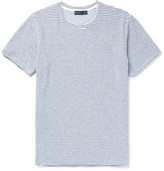 Etro Slim-fit Striped Stretch-cotton Terry T-shirt