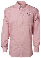 Cutter & Buck Men's Houston Texans Tattersall Dress Shirt