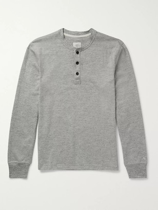 Rag & Bone Cotton-Jersey Henley T-Shirt - Men - Gray