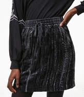 LOFT Crushed Velvet Drawstring Skirt