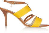 Oscar de la Renta Briani two-tone canvas and leather sandals