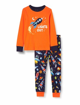 Hatley Boy's Organic Cotton Long Sleeve Applique Pyjama Sets