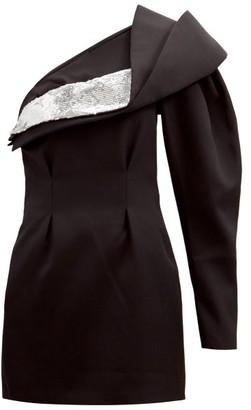 Isabel Marant Lidia Off-the-shoulder Wool Mini Dress - Black