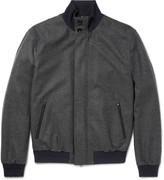 Ermenegildo Zegna - Herringbone Trofeo Wool And Cashmere-blend Bomber Jacket