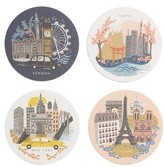 Rifle Paper Co. Bon Voyage Set Of 8 Coasters