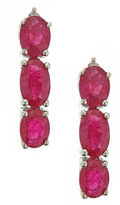 FINE JEWELRY LIMITED QUANTITIES! Diamond Accent Red Ruby 14K Gold Drop Earrings