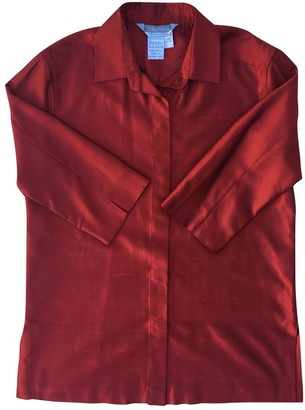 Max Mara Red Silk Top for Women